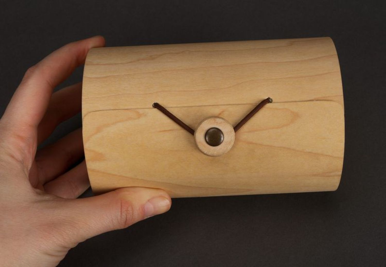 Box made of birch bark wood photo 2
