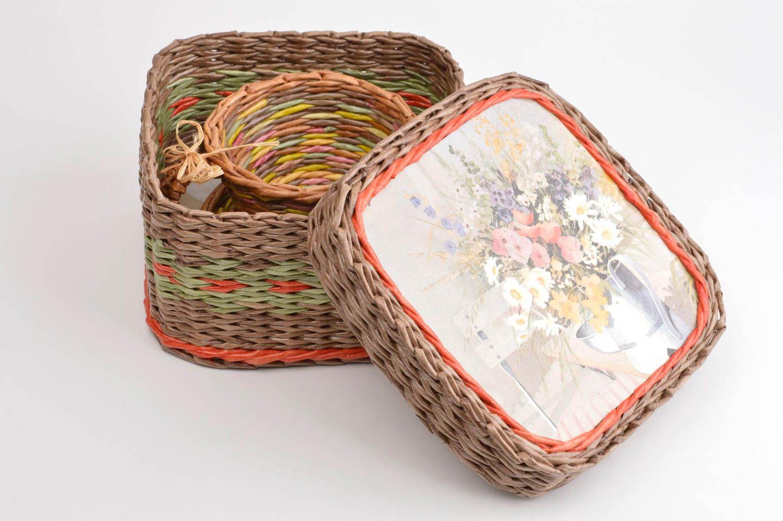 madeheart korb aufbewahrung handmade deko wohnung mit blumen bertopf geschenk f r frau. Black Bedroom Furniture Sets. Home Design Ideas