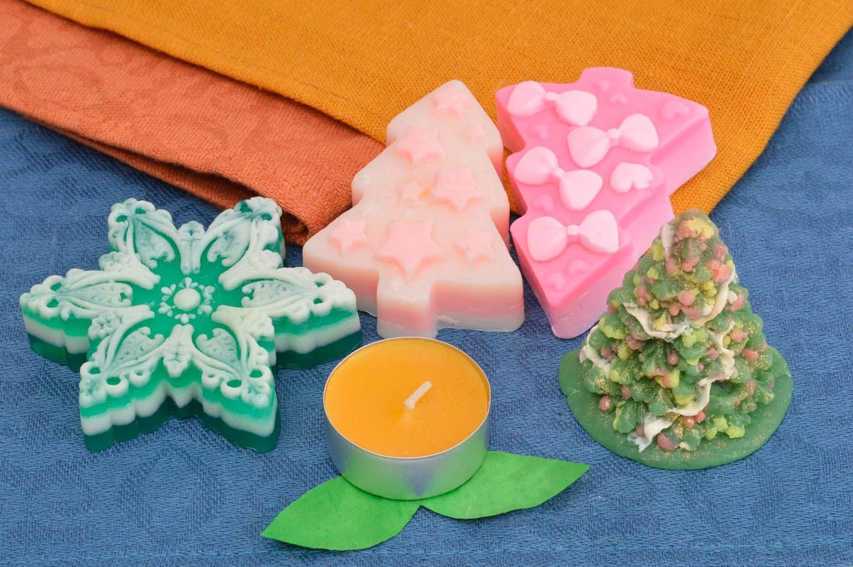 Handmade soap natural cosmetics christmas tree soap Christmas soap set  photo 1