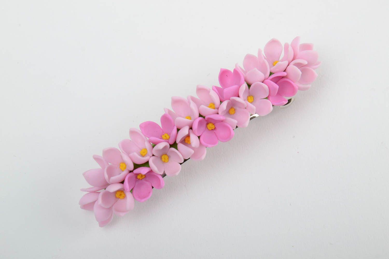 horquillas Pinza para el pelo de porcelana fría artesanal elegante de color rosado para chica ,