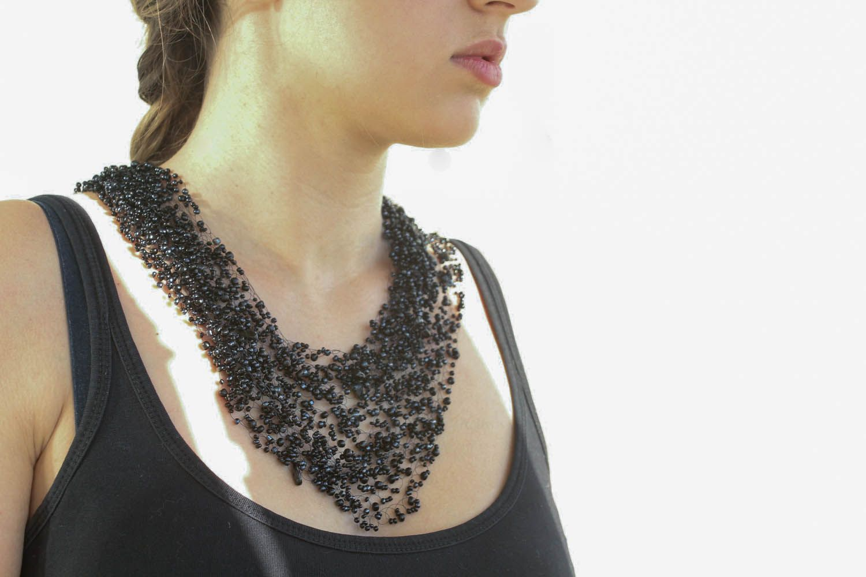 Beaded necklace Night photo 1