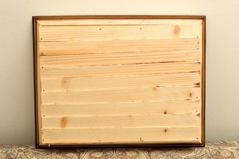 madeheart tableau d coration murale fait main en bois et argile id e d co maison. Black Bedroom Furniture Sets. Home Design Ideas