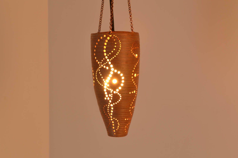 Керамические светильники ручной работы