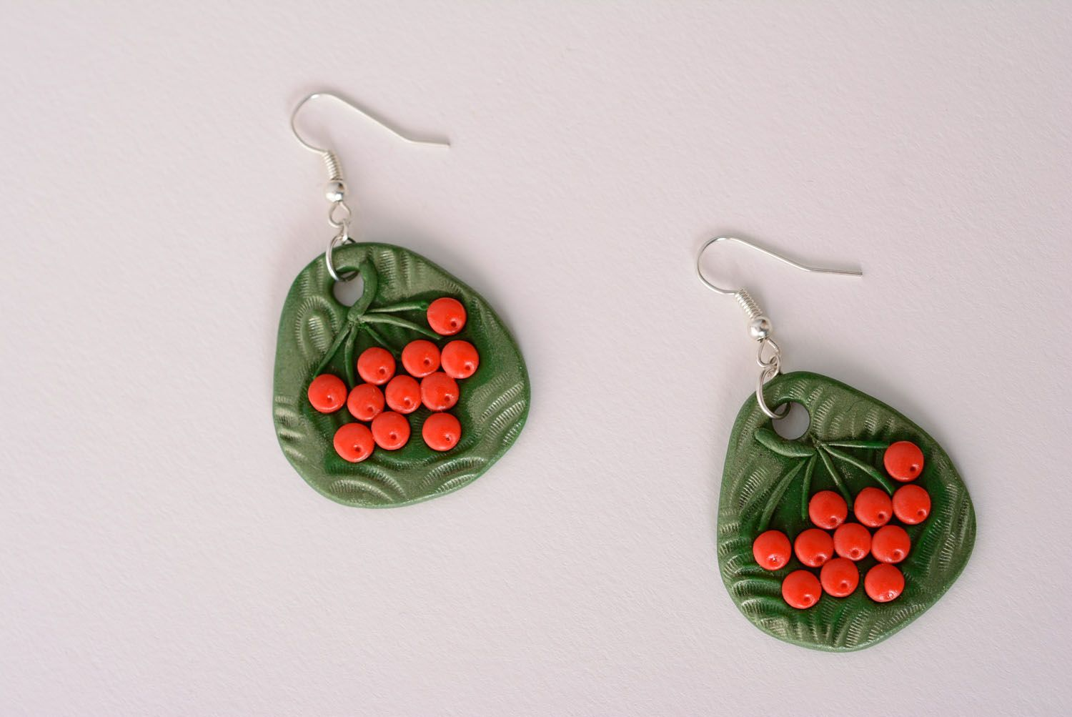 Polymer clay earrings photo 5
