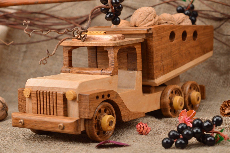 Original Camión De Para Madera Decoración Artesanal Juguete Interior 8wm0NnOv