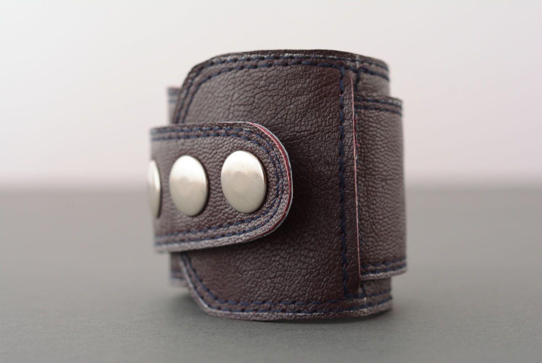 Homemade leather bracelet photo 2