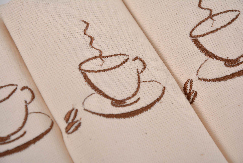 Madeheart servilletas bordadas a m quina de lino - Cocinas hechas a mano ...
