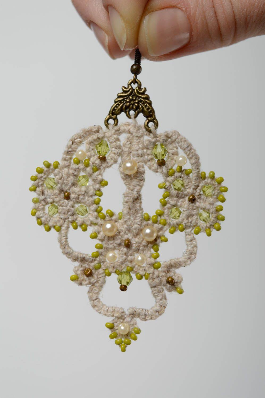 Lacy crochet earrings Orient photo 4