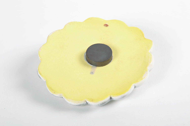 Ceramic fridge magnet Flower photo 5