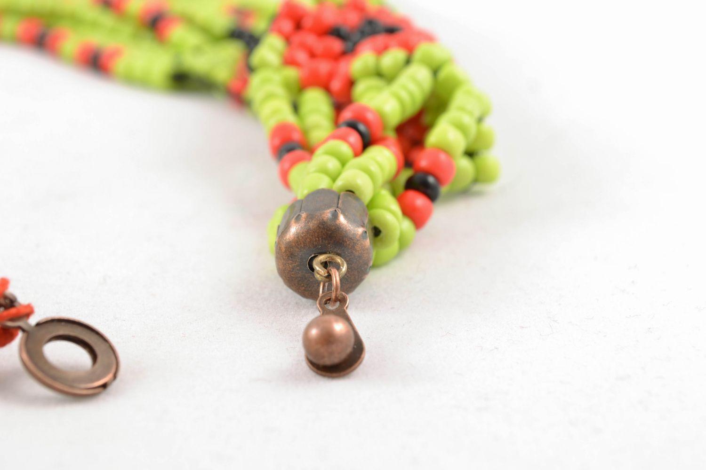 Multirow beaded necklace in ethnic style photo 3