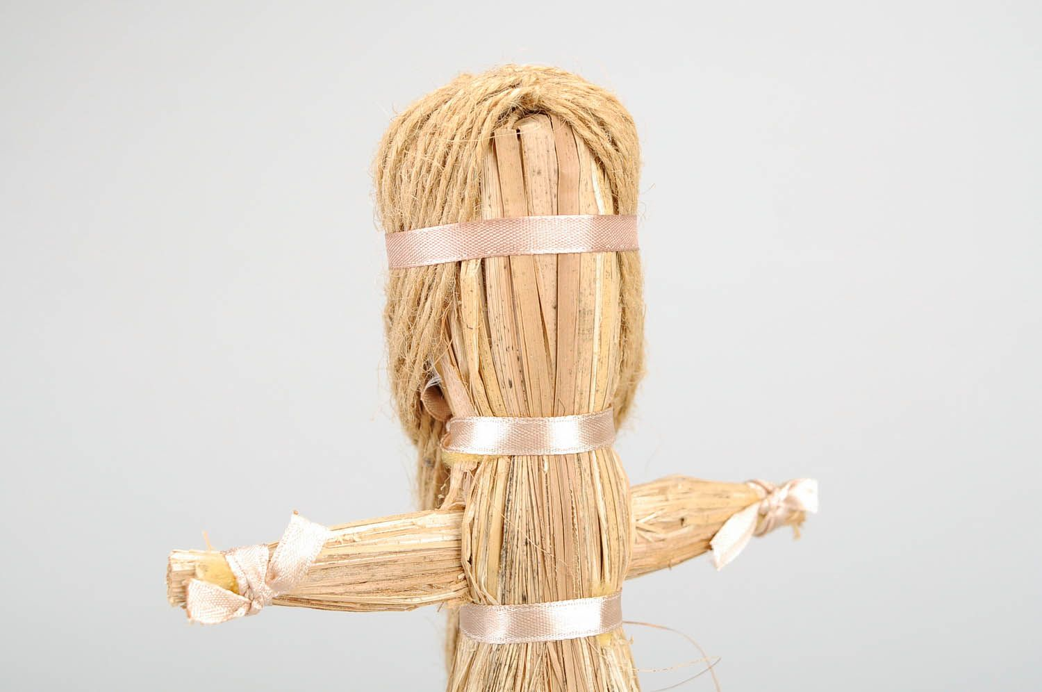 Amulet doll made of cattail photo 5
