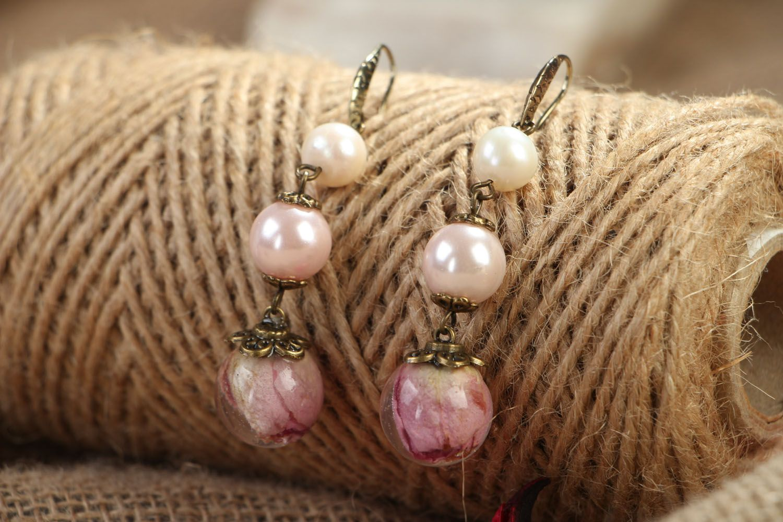 Floral earrings  photo 3