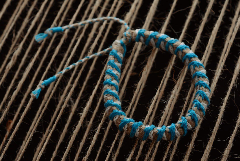 Linen friendship bracelet photo 3