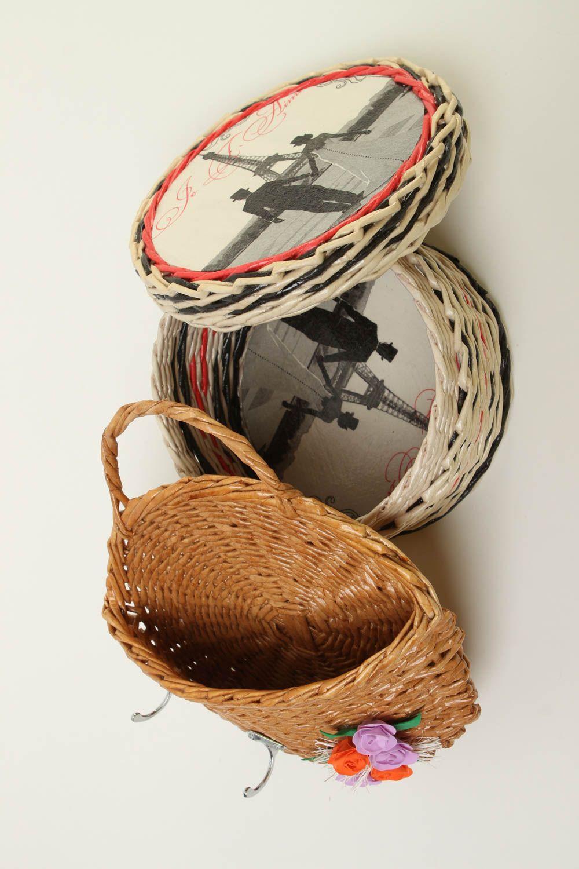 Hangers And Coat Racks Homemade Home Decor Paper Basket Key Holder Wall  Decor Housewarming Gift Ideas