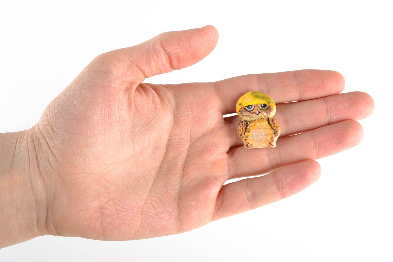 Homemade fridge magnet in the shape of owl photo 1