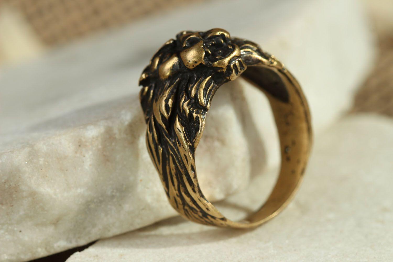 Löwenkopf Ring foto 2