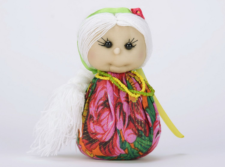 Sachet doll made from natural fabrics photo 1