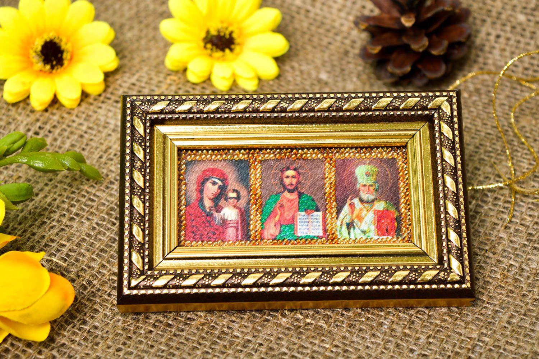 mit Glasperlen bestickte Handmade Wandbild für Dekor Ikonen Bild Wandbild für Geschenk Heiligen schön - MADEheart.com
