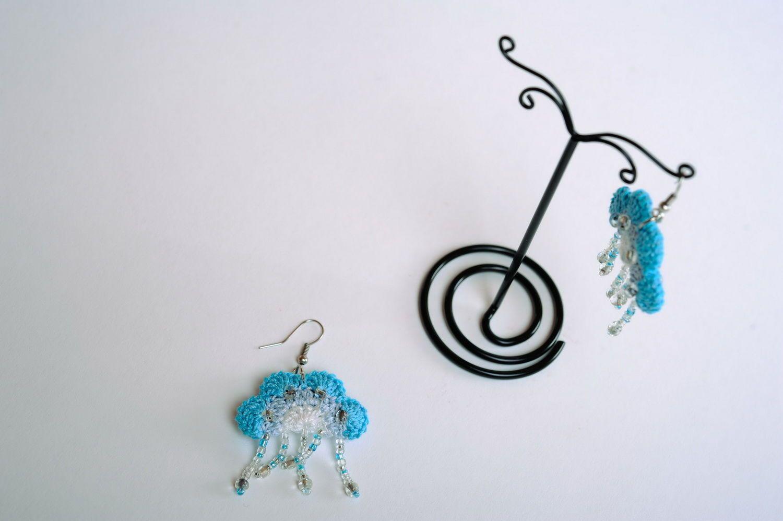 Acrylic earrings Heaven photo 5