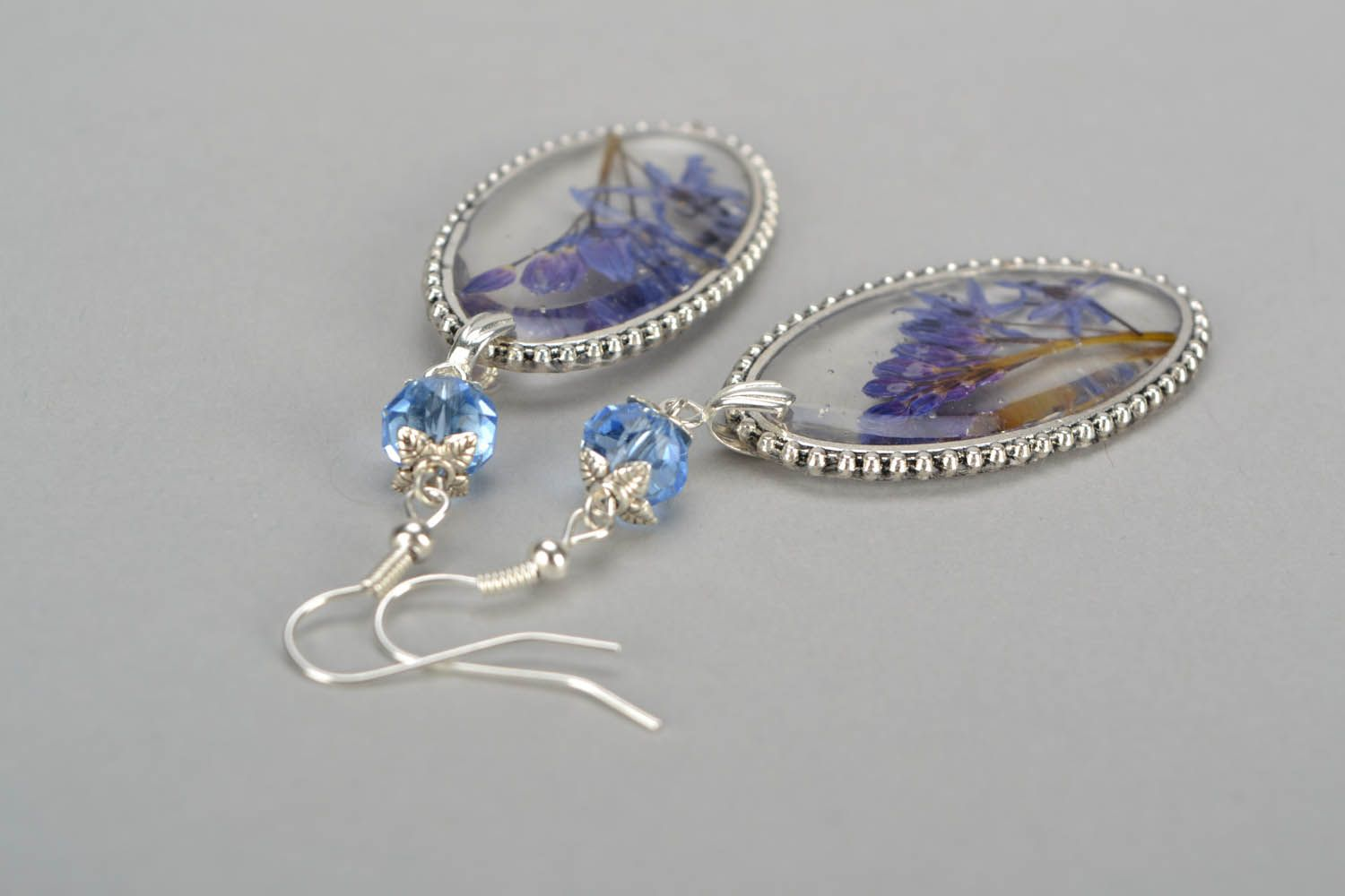Earrings with lilac photo 4