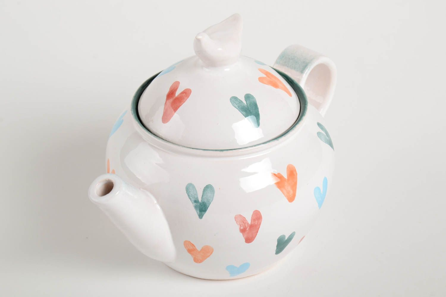tea pots and coffee pots Handmade ceramic teapot 500 ml ceramic teapot with lid clay dishes unusual gift  - MADEheart.com