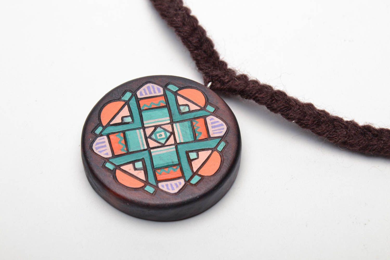 Handmade wooden pendant photo 3