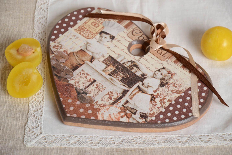 Madeheart planche d couper bois fait main planche pain coeur ustensile de cuisine - Modele de coeur a decouper ...