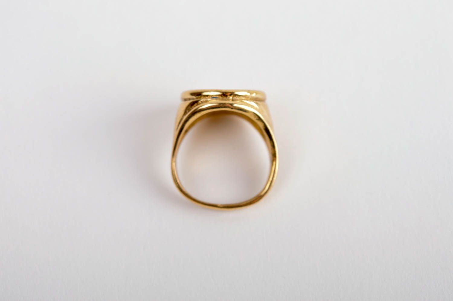 Stylish beautiful ring handmade brass ring metal accessory unisex ring photo 5