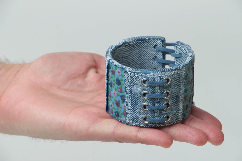 Bracelet large en pâte polymère Bijou fait main original Cadeau pour femme photo 6