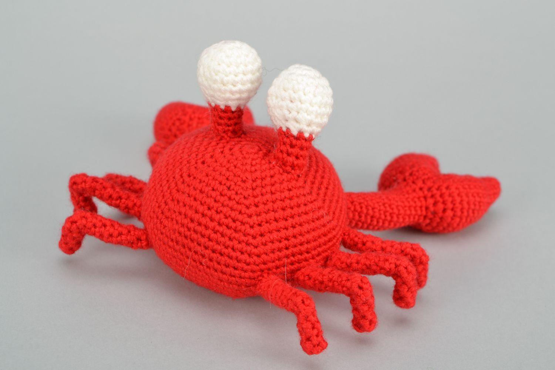 Handmade soft crochet toy Crab photo 4