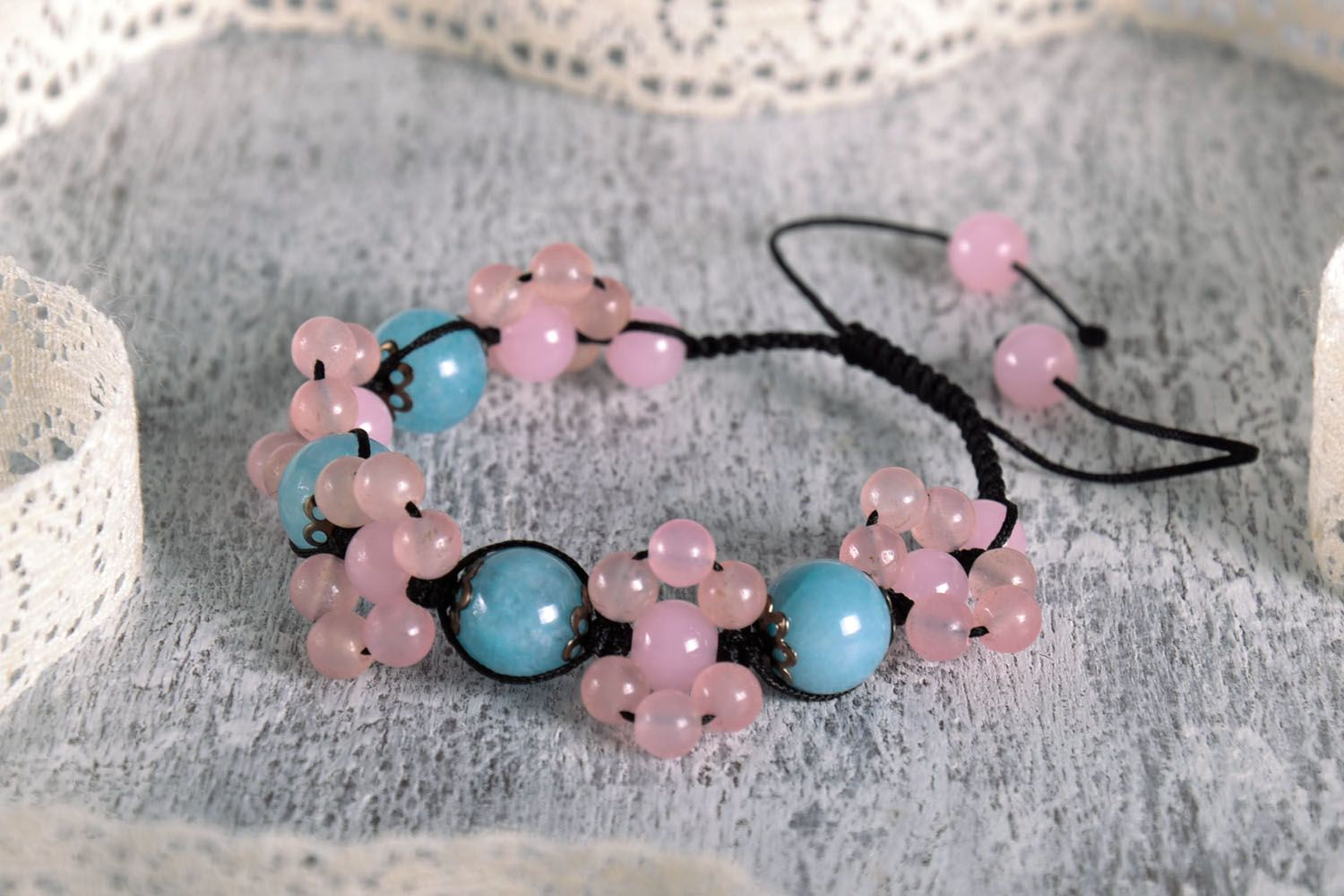 Homemade bracelet with natural stones photo 1