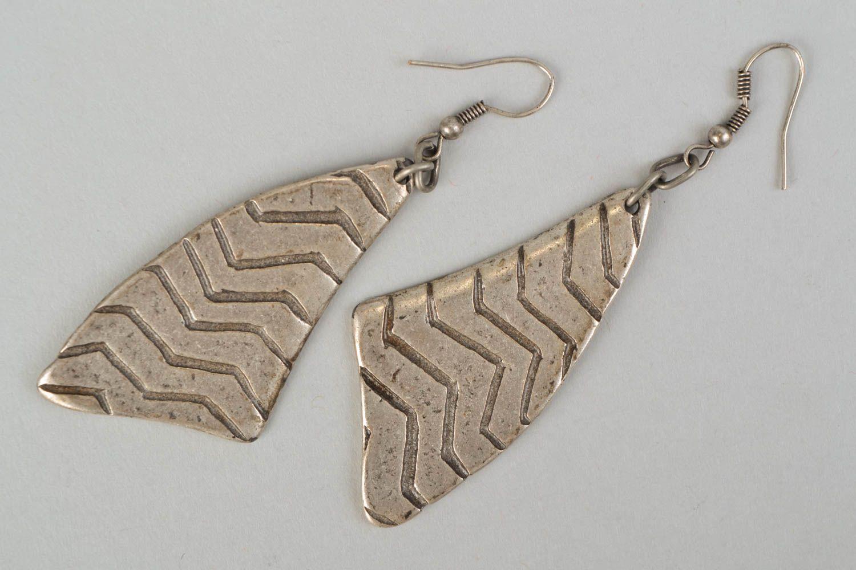Long earrings made of hypoallergenic metal Stroke of Luck photo 3