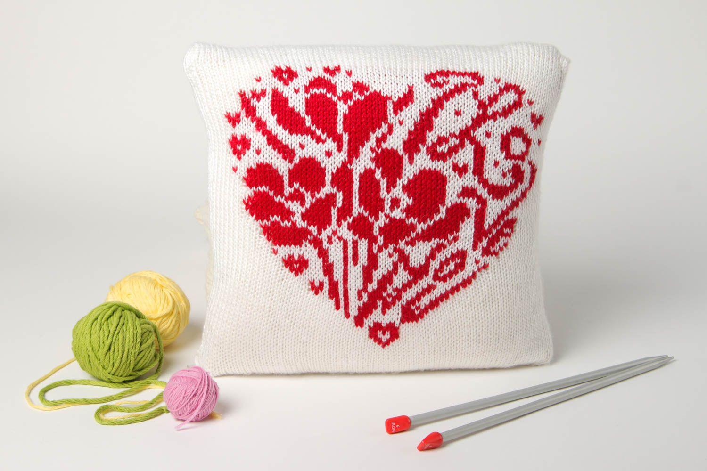 Textilien Und Teppiche Deko Kissen Mit Herzen Handmade Wohn Accessoire Wohnzimmer  Deko Mit Kissenbezug   MADEheart