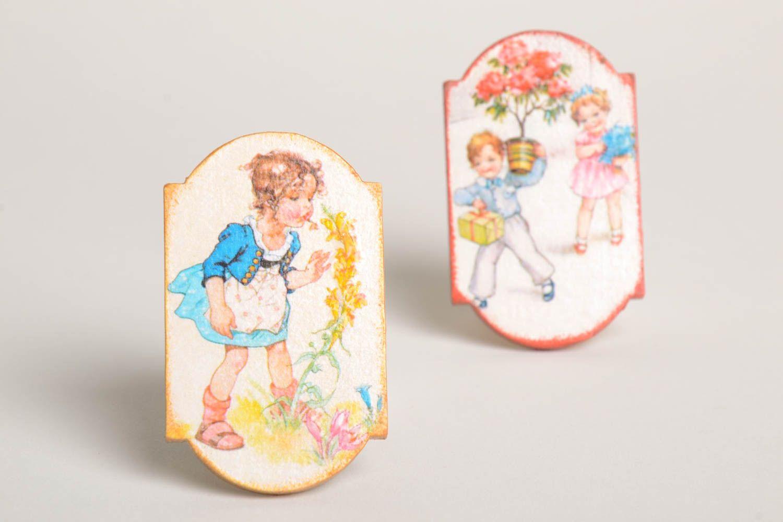 Decoupage fridge magnet elegant handmade kitchen decor decorative use only photo 2