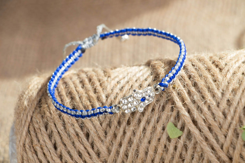 Geflochtenes Armband in Blau foto 3