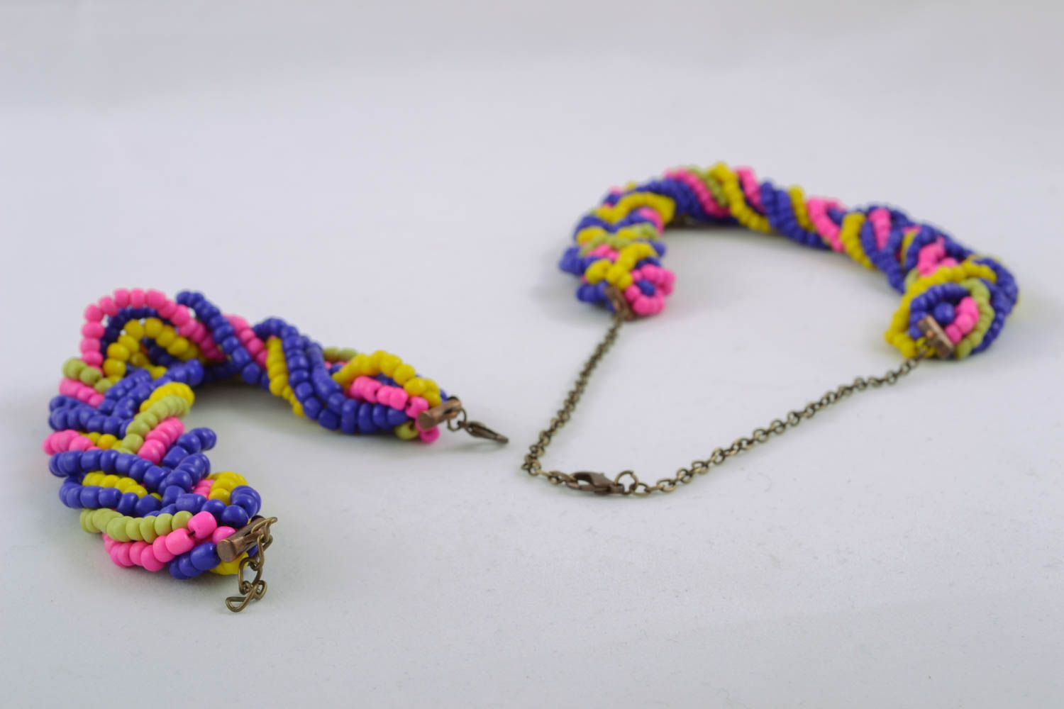 Handmade beaded jewelry set photo 3