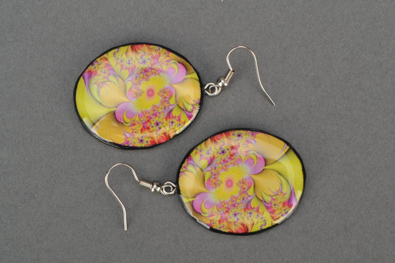 Round designer earrings  photo 3