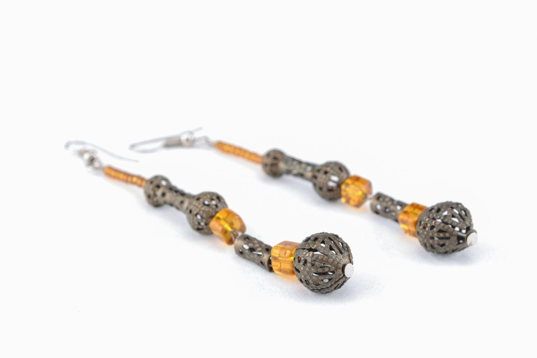 Long earrings of unusual design photo 2