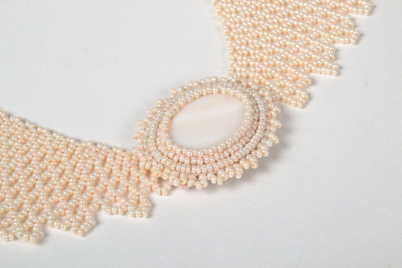 Unusual handmade necklace photo 3