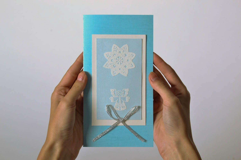 Handmade Christmas postcard photo 5