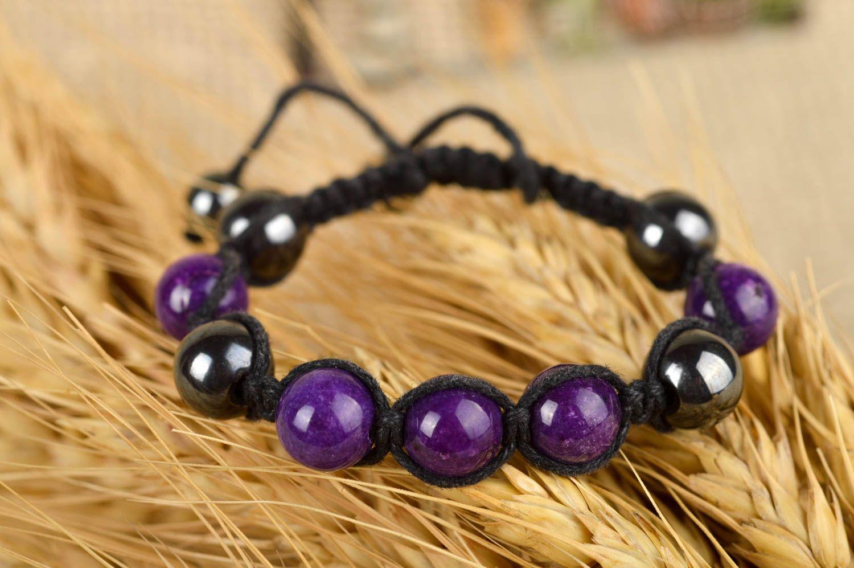 3e6c3c56224f pulseras shambala Pulsera de cuentas moradas bisutería hecha a mano pulsera  con piedras naturales - MADEheart