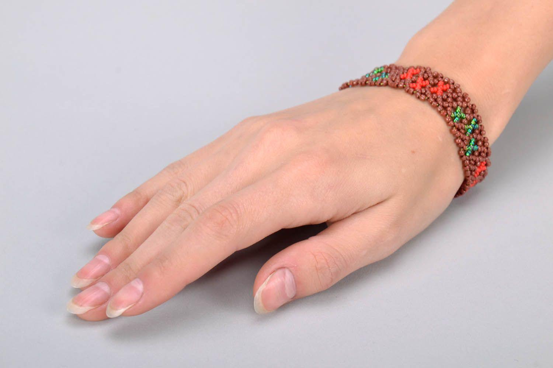 Плетеный браслет на руку фото 5