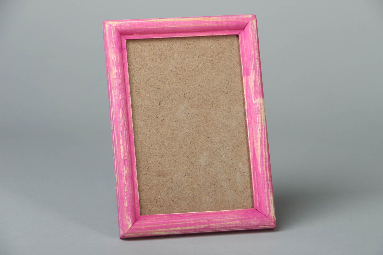 Pink wooden photo frame photo 1