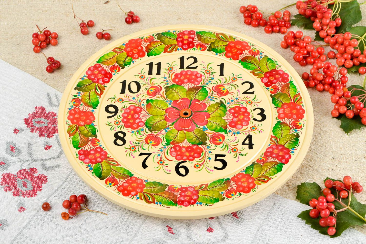 MADEHEART > Handmade designer wall clock beautiful wall decor art ...