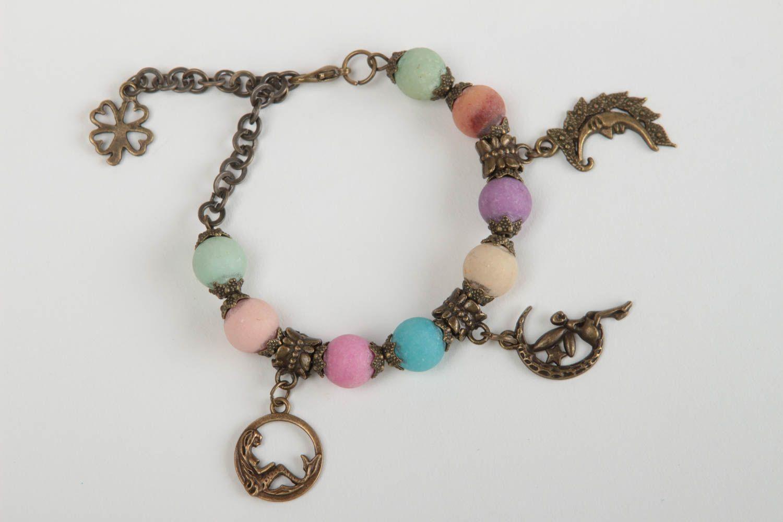 Beautiful handmade beaded bracelet gemstone bracelet fashion accessories photo 2