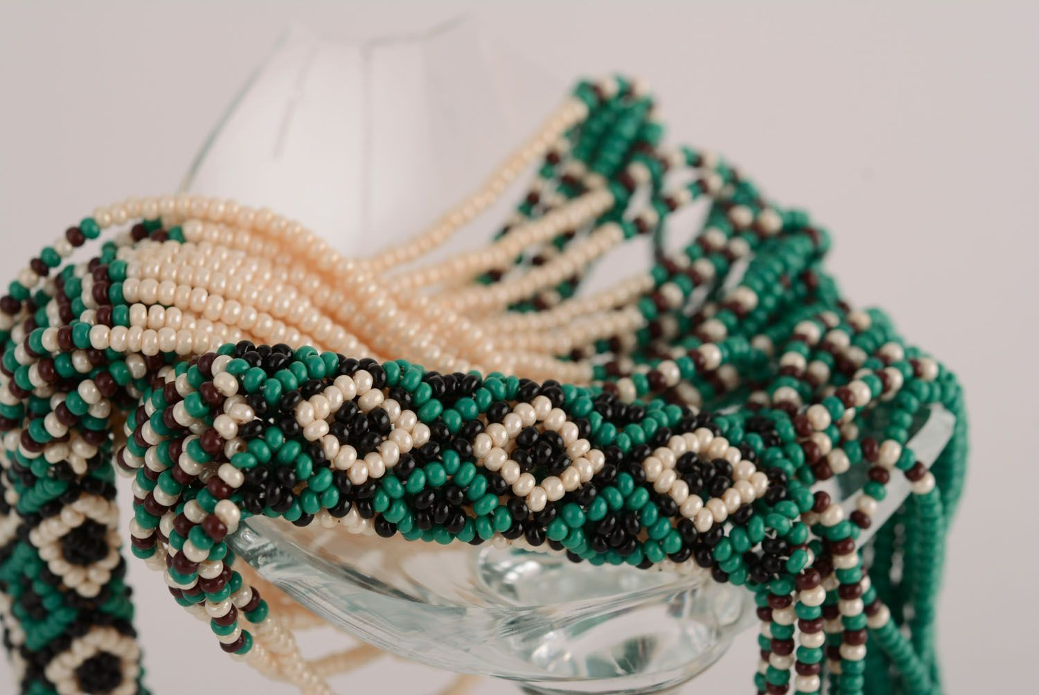 Ethnic beaded necklace photo 2