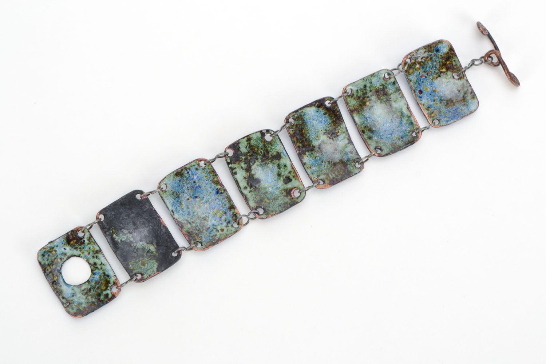Kupfer Armband mit Emaille Nacht foto 3