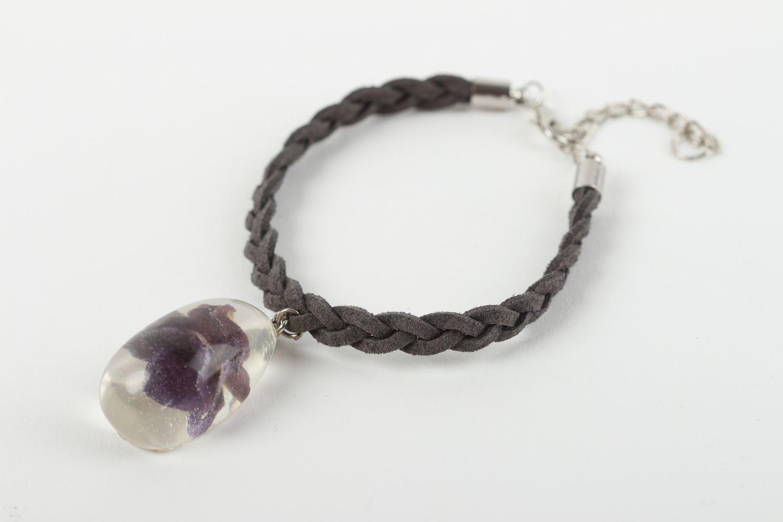 Handmade botanical jewelry stylish woven bracelet unusual wrist jewelry photo 1