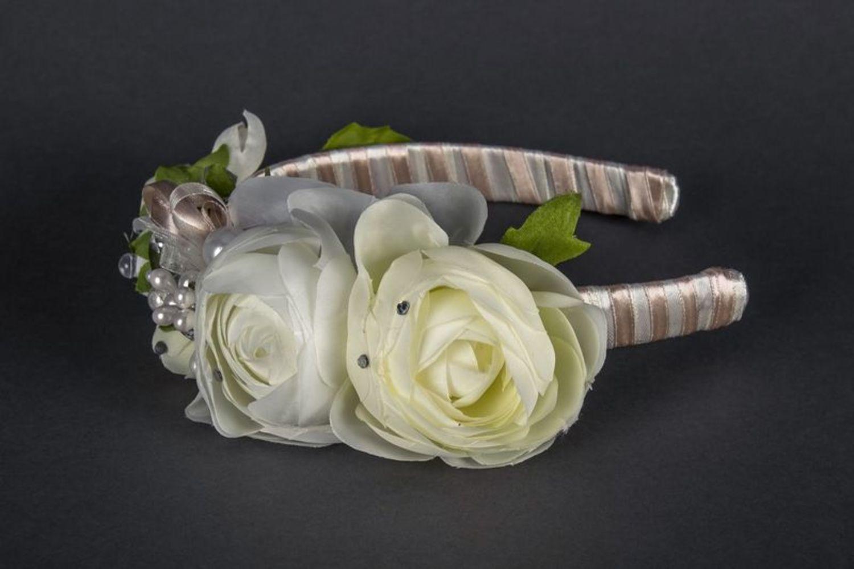 Wedding head wreath photo 3