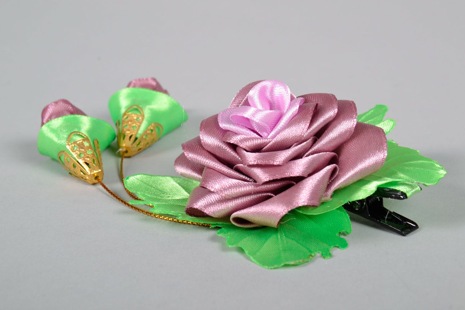 Hair clip Lilac Rose photo 3